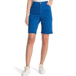 NYDJ Stretch denim High Rise Bermuda Shorts NWT